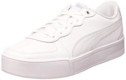 PUMA Damen Skye Sneaker, White White Silver-Gray Violet, 40 EU