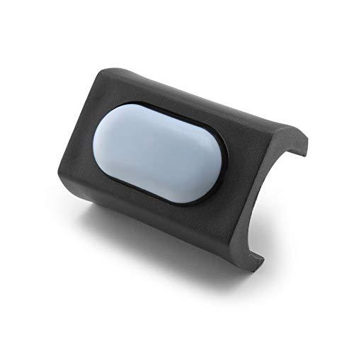 GleitGut Klemmgleiter für Freischwinger - Teflongleiter für Rundrohr 23-27,7 mm mit Zapfen - PTFE-Möbelgleiter für Schwingstuhl - schwarz