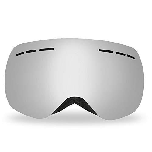 Jackys Skibrille, Beschlagfrei Und Anti-UV-Doppellinse Rahmenlos Skibrille Anti-Fog Winter Schneesport, Helmtaugliche Brille Ski,C