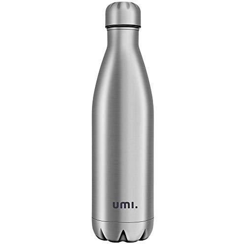 Umi. by Amazon - Vakuum Isolierte Edelstahl Trinkflasche Thermosflasche, BPA Frei Wasserflasche Auslaufsicher - 750ml SportFlasche für Sport, Outdoor, Büro, Kinder, Schule, Kleinkinder, Kindergarten