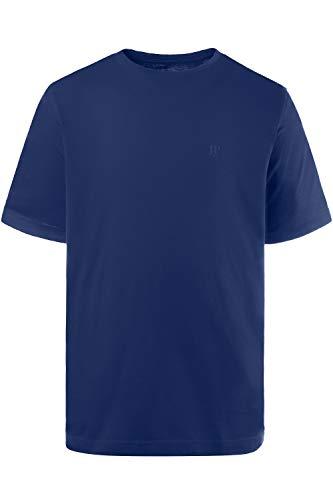 JP 1880 Herren große Größen bis 8XL, T-Shirt, JP1880-Motiv auf der Brust, Basic-Shirt, Rundhalsausschnitt, Reine Baumwolle, Kobalt 6XL 702558 73-6XL