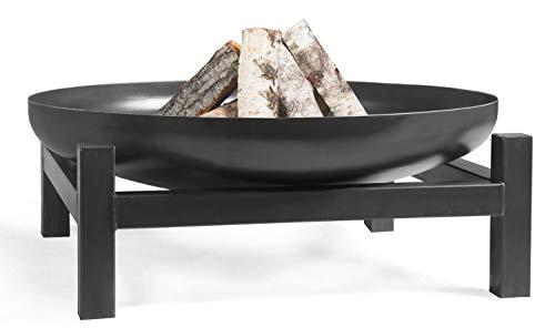 KORONO ® Feuerschale mit quadratischem Fuß (100cm Ø, 31cm hoch)