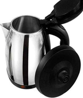 Generic KET-003 Stainless Steel Electric Kettle Multipurpose Extra Large Cattle Electric with Handle Hot Water Tea Coffee Maker Water Boiler, Boiling Milk (Black, 2 Liter)