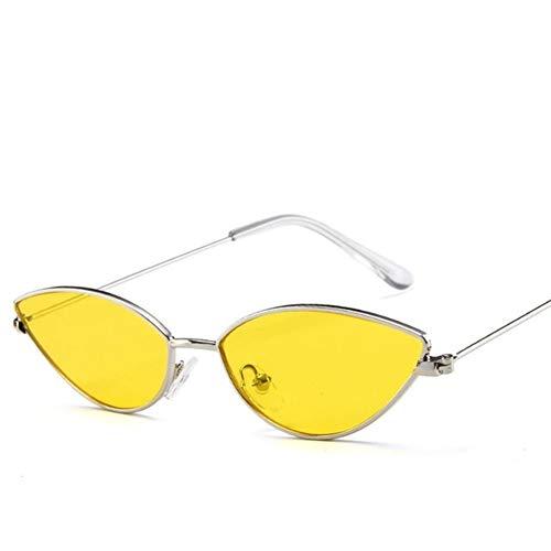 LYRStore886 delle Donne del Gatto-Occhio di Occhiali da Sole Donne Telaio in Metallo Generoso, Bellissimo (Lenses Color : Yellow)