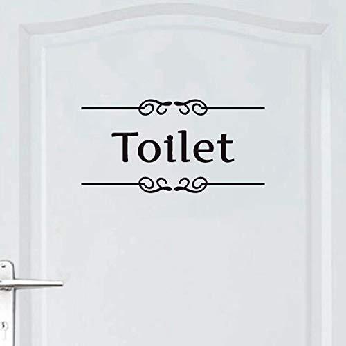 ウォールステッカー トイレ ドア toilet 文字 案内 シール