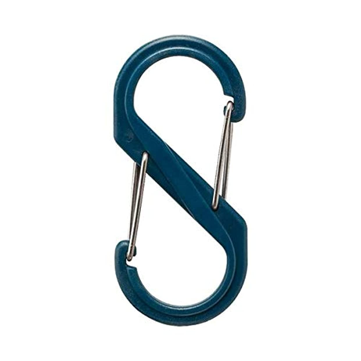悪因子シンプトンミスペンド日用品 DIY (まとめ買い) S型カラビナ ネイビー 【×20セット】