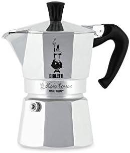 Bialetti Moka Express StoveTop Cafetera, 3 tazas, Aluminio Plata