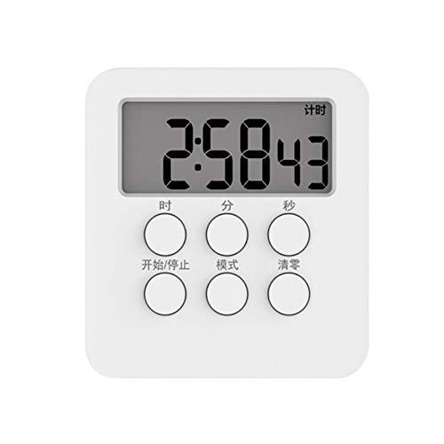 YJYQ Temporizador De Cocina Digital,Temporizador Multifunción,con Alarma, Respaldo Magnético, con Pantalla LCD Grande Y Soporte Plegable,Tamaño: 8x7,4x1,7 Cm