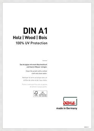 DEHA Holz Bilderrahmen Fontana, 59,4x84,1 cm (A1), Weiß