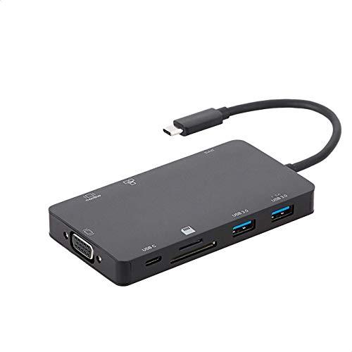 Amazon Basics Aluminum USB 3.1 Type-C Docking with HDMI, VGA,...