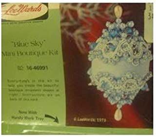 Vintage Lee Wards Blue Sky Mini Boutique Beaded Ornament Kit