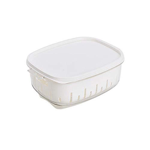 SMX Koelbox voor keuken, koelkast, koffer, transparant, met deksel en dubbele afvoer - Nordic Blue