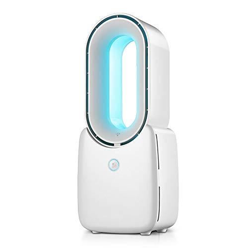 Ventiladores Sin Aspas Silencioso con 4 velocidades, Eléctrico Ventilador Sin Cuchilla Con luz nocturna y carga USB, Menaje Mudo Torre Enfriarse Ventilador Sin Cuchilla