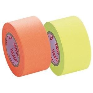 ヤマト メモック ロールテープ つめかえ用 25mm幅 レモン&オレンジ WR-25H-6C 1パック(2巻) ×15セット