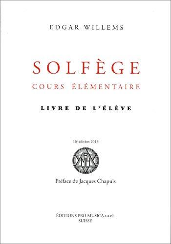 Solfège, cours élémentaire : Livre de l'élève