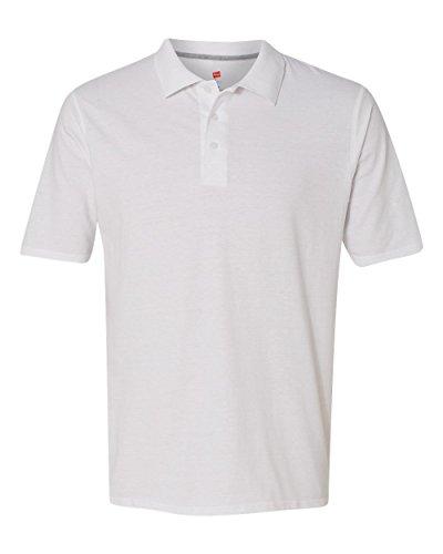 Hanes X-Temp® Men's Polo M White