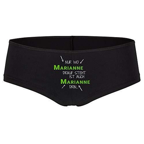 Multifanshop Panty Alleen waar Marianne Drauf staat is ook Marianne erin zwart dames maat S tot XL