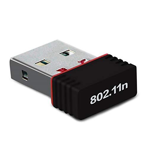 Gaetooely USB WiFi Adaptador RTL7601 Antena 150Mbps Receptor InaláMbrico USB Tarjeta de Red Laptop TV Box Wi-Fi