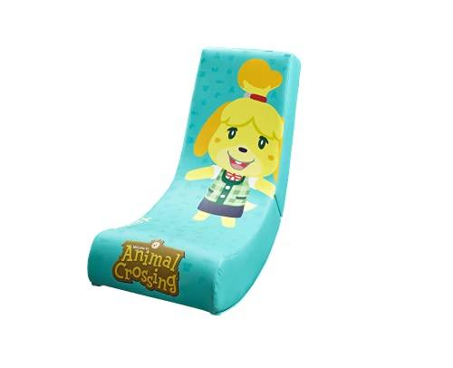 X-Rocker Officially Licensed Nintendo Video Rocker Gaming Chair, Junior Foldable Floor Seat – Animal Crossing Isabelle
