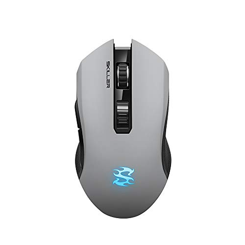 Sharkoon SKILLER SGM3 grau, optische Gaming Maus, Dual Mode (Funk oder Kabelgebunden), RGB