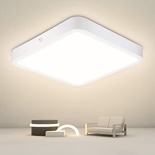 LED Deckenleuchte panel 22W, 2200LM LED Deckenlampe flach, Oraymin LED Bürodeckenleuchte für Wohnzimmer Schlafzimmer Kinderzimmer Küche Balkon Büro Flur, Neutralweiß 4000K, 22x22CM