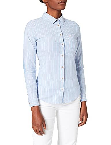 Springfield Camisa Oxford Algodón Orgánico, Azul Claro, 38 para Mujer