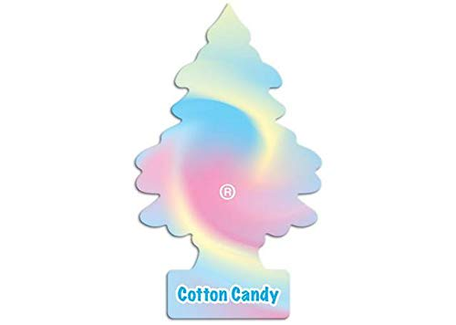 LITTLE TREES Car Air Freshener | Hanging Paper Tree for Home or Car | Cotton Candy | 6 Pack