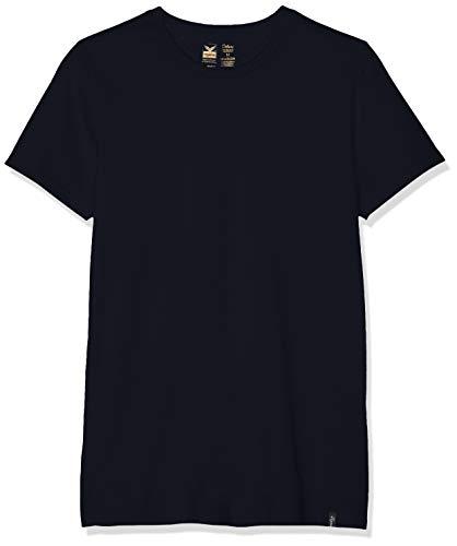 Trigema Herren 637201 T-Shirt Blau (Navy 046) Medium (Herstellergröße: M)