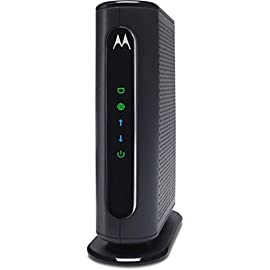 MOTOROLA 8x4 Cable Modem, Model MB7220, 343 Mbps DOCSIS 3.0, Certified by Comcast XFINITY, Time Warner Cable, Cox… 1 This 8x4 DOCSIS 3.0 cable modem provides speeds up to 343 Mbps, eight times faster than DOCSIS 2.0. A Full-Band Capture digital tuner ensures a faster, more reliable Internet. Cable modem's Ethernet port connects to a computer, HDTV, game station, or wireless router. (This cable modem does not have a built-in wireless router or VoIP telephone adapter. The Motorola MG7310, MG7315, and MG7550 have a built-in wireless router.) Requires cable Internet service. Certified by Comcast XFINITY, Time Warner Cable, Cox, BrightHouse, and other leading cable service providers for modem ownership programs that typically save rental charges of $120 or more per year