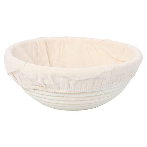 OUNONA Grkrbchen mit Tuch f¨¹r Brot und Teig Rund 23cm