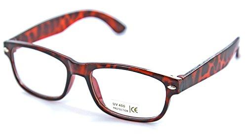 Nerd-bril zwart bruin hoorn-bril zonder zichtbare sterkte heren dames panto-bril leesbril wayfarer nerd-bril geek-bril