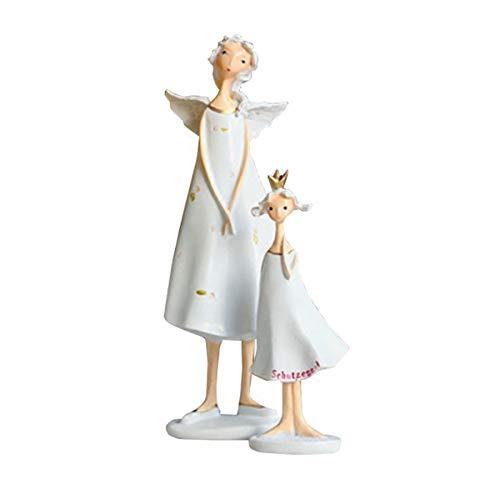 2 stks Mooie Tuinhars Decoratie Creatieve Geschenken Amerikaanse TV kabinet Meubels Angel Huis Meubels Decor