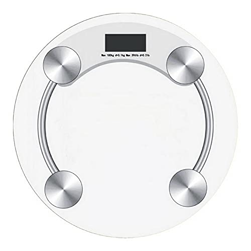 Balanzas redondas de vidrio templado, pantalla digital LED, piso de pesaje,balanzaelectrónica,cuerpo, baños domésticos, 26 cm