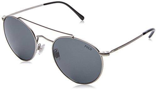 Ralph Lauren POLO 0PH3114 Gafas de Sol, Semi Shiny Brushed Silver, 51 para Hombre