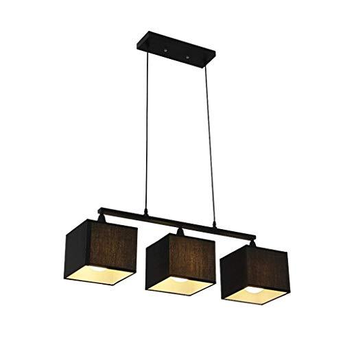 Raelf 3-Flammen-Pendelleuchte kreative Leuchten Deckenleuchter Licht Schatten Kronleuchter Pendelleuchte Hängelampe E27 Moderne Persönlichkeit Eleganten Tuch Lampshade Haushalt Kronleuchter