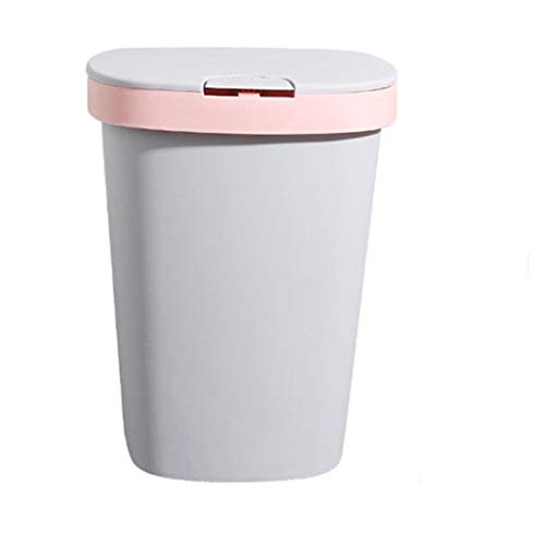 WUCHENG Automatische Tasche Zeichnung Trash Can Haushalts Simple Flip Top Trash Can Stable Trash Can mulleimer (Color : Pink, Size : 23 * 30cm)