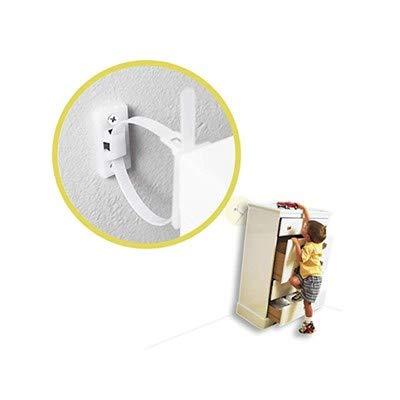 Dowoa Dispositivo anticaída para Muebles 10PCS Correas para Muebles Cinturones Protectores antivuelco...
