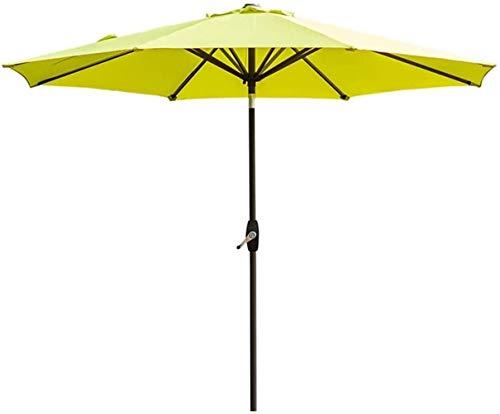 RUINAIER Housewares Sun Parasol Umbrella Garden 9ft / 270cm Patio Outdoor Table Umbrella, Yard Umbrella with Push Button Tilt and Crank