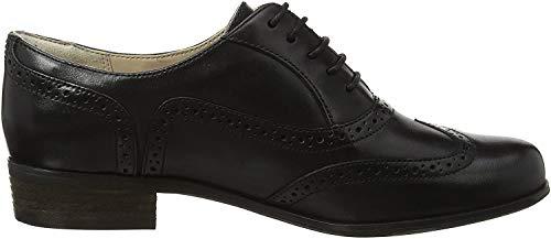Clarks Hamble Oak, Zapatos de Cordones Derby para Mujer, Negro (Black Leather), 39 EU