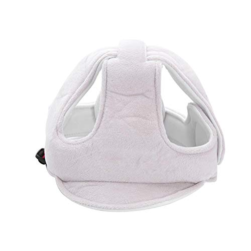 Infant Head Protection Cushion Bonnet Hat Baby Toddler Safety Helmet Adjustable Safety Protective Headguard Harnesses Cap for Biking Walking Crawling(Grey)