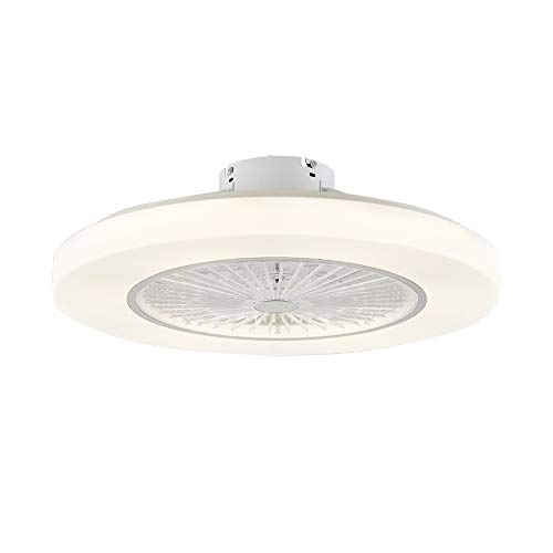 Wandun Ventilatori da soffitto con lampada LED Fan Plafoniera Ventilatore Invisibile Creativo 3 velocità con Telecomando Dimmerabile Decorazione d'interni illuminazione [Classe di efficienza energetic