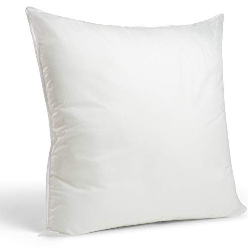 Foamily Premium Hypoallergenic Euro Sham Throw Pillow Insert Square Polyester, 26 x 26 - Made in USA
