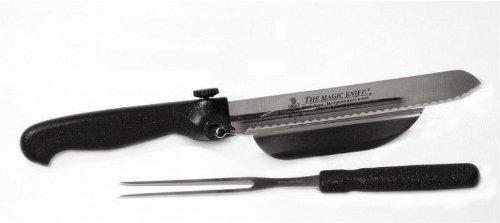 Das Magische Messer Set avec couteau et fourche de maintien Véritable couteau de Solingen - Fabriqué en Allemagne - Couteau professionnel en acier au molybdène