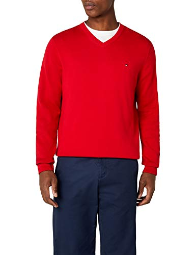 Tommy Hilfiger Pacific V-Nk CF Jersey, Rojo (Apple Red), M p