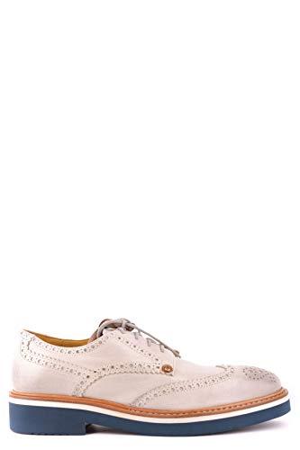 Cesare Paciotti Luxury Fashion Herren MCBI25939 Weiss Leder Schnürschuhe | Jahreszeit Outlet
