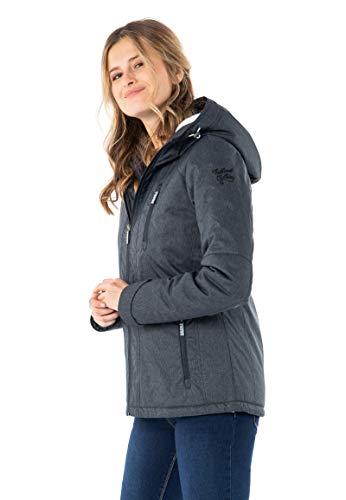 Sublevel Damen Winter-Jacke mit Fell Kapuze Sportlich Blue XXL