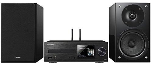 Pioneer X-HM86D(B) Micro Hifi Anlage, für CD, MP3, DAB+ Radio Wiedergabe (WLAN, Bluetooth, Musik Apps (Spotify, Tidal, Deezer), 65 W/Kanal, Streaming, Multiroom, Front USB/Audio in), Schwarz