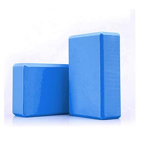 YUUWA ヨガブロック 2個セット ブルー ヨガワークス ボディシェーピング 高密度EVA 軽量 耐臭性 防湿性 ポーズ補助