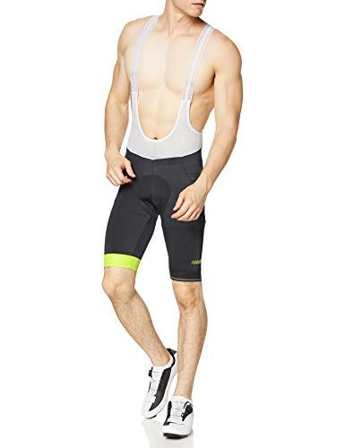 Zero RH+ Prime Bibshort, Abbigliamentomanbikebib & Pant Uomo, Black/Fluo Yellow/Reflex, XXXL