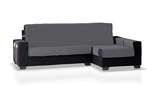 Bartali Funda de sofá Chaise Longue GEA, Brazo Derecho, Tamaño pequeño (200 Cm.), Color Plomo